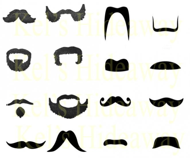 Set 16 Funny MOUSTACHE STiCkeRs Gift