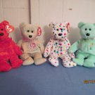 Beanie Babies Bears  Ty 2K , Celebrate, Ariel, Sizzle