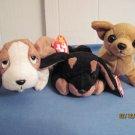 Beanie Babies, Tiny, Tracker, Duby