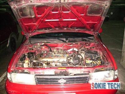 97 98 99 00 Nissan Sentra 4D Gas Hood Shock Lift Damper d6
