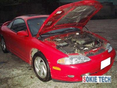 95 ~ 99 Mitsubishi Eclipse Carbon Fiber Gas Hood Damper i2