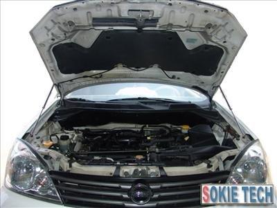 03~07 Nissan X-Trail Carbon Fiber Gas Hood Damper Kit d8