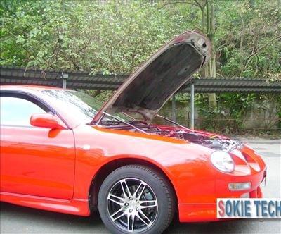 94~98 Toyota Celica Carbon Fiber Shock Hood Lift Damper f3