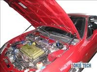 92~00 Honda Del Sol Carbon Fiber Gas Hood Shock Damper b6