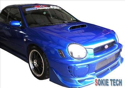 Subaru Impreza GDA GDB Silver Carbon Fiber Hood Damper j9