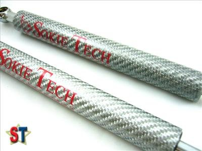 03~07 Nissan 350Z Z33 Silver Carbon Fiber Hood Damper d4