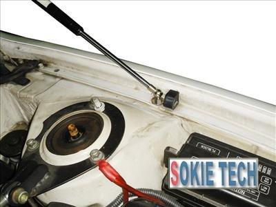 98~02 Toyota Corolla Silver Carbon Fiber Hood Damper e8