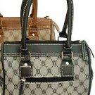 Jacquard with Leather Like Trim Handbag