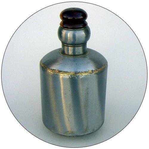Decorative Iron Vase w/ Wood Cork - 16 Inch