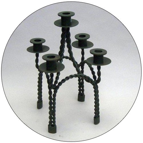 Wrought Iron Candle Opera - 5 Light.