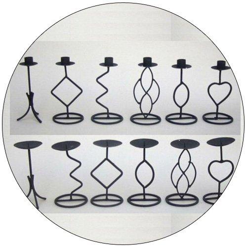 Decorative Twisted Iron Candle Holder Set - 7 Inch - Set of 12