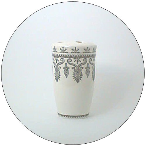 Toothbrush Holder (4 Hole) with Classic Black Design