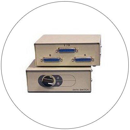 2-Port Manual A/B Data Switch - Bi-Tronics - Model No. DS-102HP