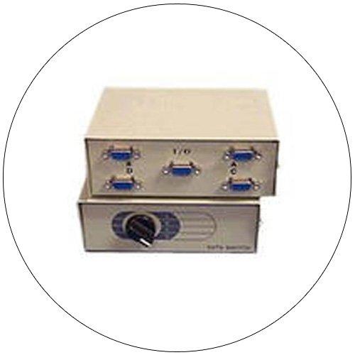 4-Port Manual Data A/B/C/D Switch - Bi-Tronics - Model: DS-102HP