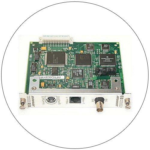 HP J2552B/J2552-60003 JetDirect Internal Print Server 10BaseT RJ45/ BNC - (Preowned - Like New)