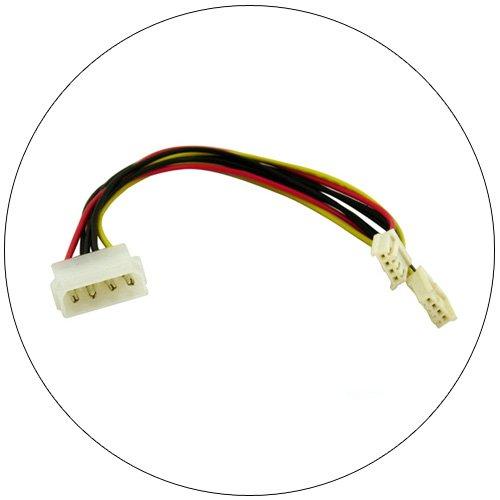 "5.25"" to 3.5"" Power Supply ""Y"" Adaptor Cable - 6"" No. 3600-06"