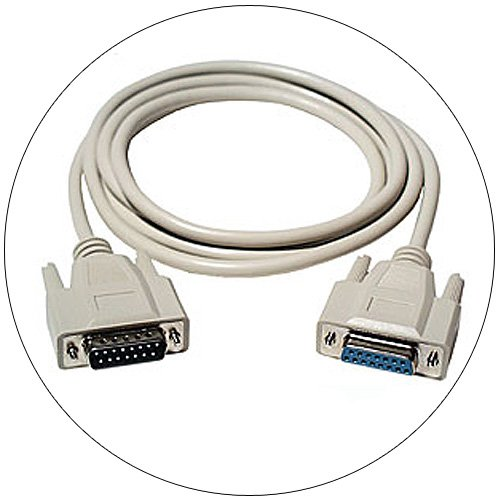 15 pin DB15 Male/DB15 Female Extension Cable - 6ft