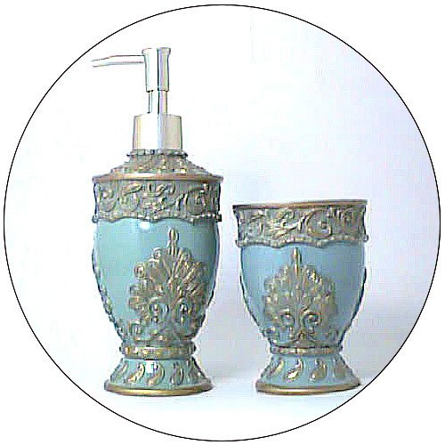 Lotion / Soap Dispenser & Toothbrush Holder / Cup - Victorian Design