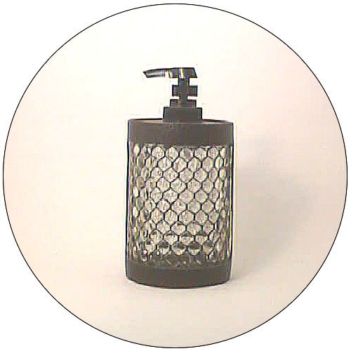 Lotion / Soap Dispenser - Iron Look w/ Glass Design