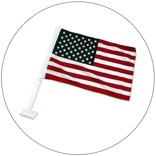 """USA Auto Clip On Flag 12"""" x 18"""""""