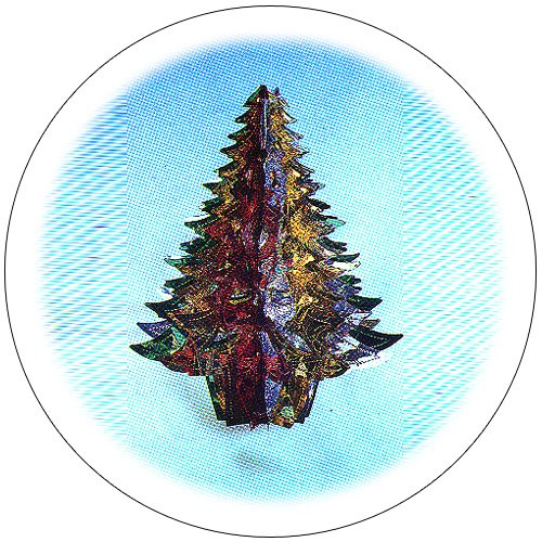 Hanging Metallic Christmas Tree - Foldout