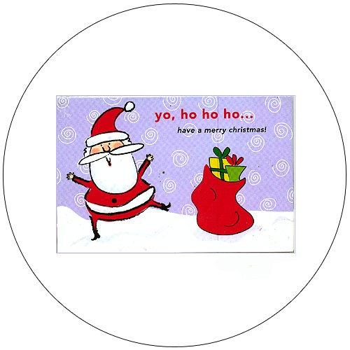 """Cute Snow Santa Greeting Postcards: """"Yo, Ho Ho Ho"""" 12 Ct. - No. MGC231CC - mjZOOM"""