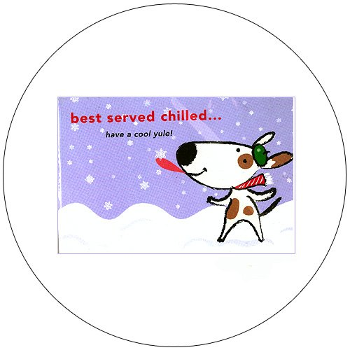 """Cute Snow Dog Greeting Postcards: """"Best Served Chilled"""" 12 Ct. - No. MGC235CC - mjZOOM"""
