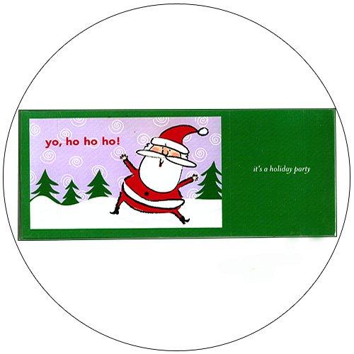 """Cute Snow Santa Greeting Invitation Postcards: """"Yo, Ho Ho Ho"""" 12 Ct. - No. MGC200CC - mjZOOM"""