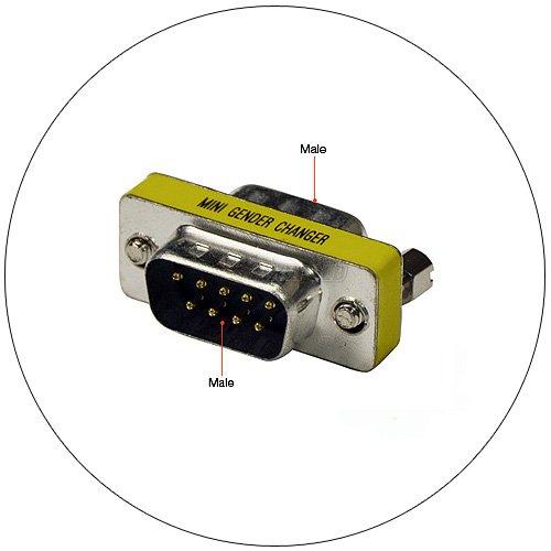 Gender Changer - Mini - DB 9 Pin Male - DB 9 Pin Male