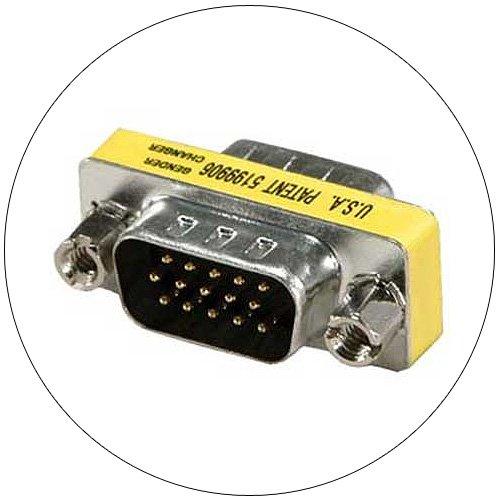 Gender Changer - Mini  - DB 15 Pin Male - DB 15 Pin Male