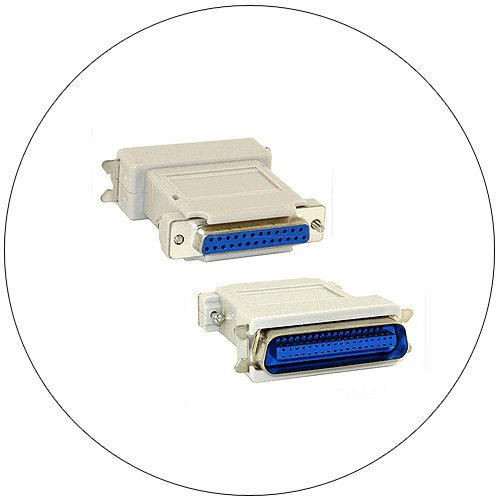 Gender Changer Adapter - Parallel Printer - Centronics 36 Pin Male to DB25 Pin Female