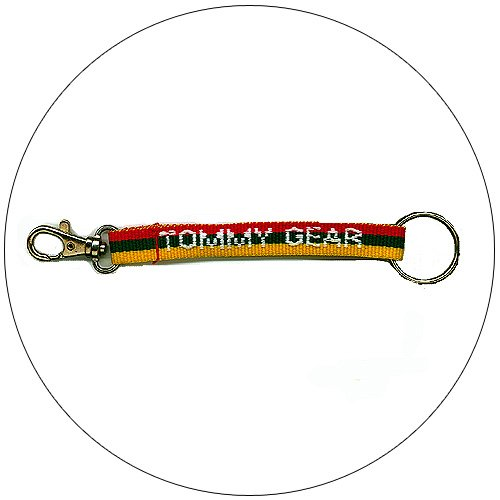 "Tommy Gear � Key Chain - Red, Green & Yellow Stripe - 3/4"" x 8-1/2"""