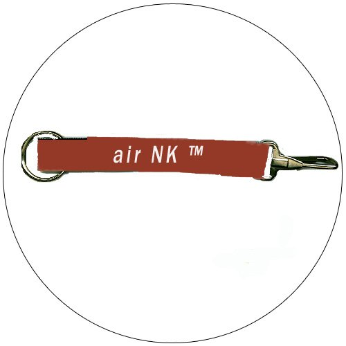 "air NK � Key Chain - Burgundy - 3/4"" x 8-1/2"""