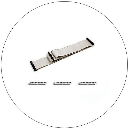 Flat Ribbon Cable - Internal IDE Dual Hard Drive - 40 Socket - 18 Inch  (Preowned - Like New)
