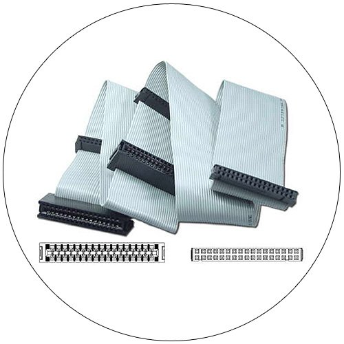 Flat Ribbon Cable - 3.5 Inch & 5.25 Inch Dual Drives - 34 Socket - 23 Inch  (Preowned - Like New)