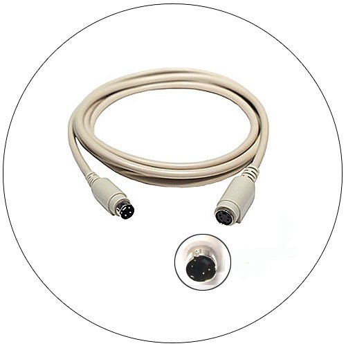 6 Feet Apple MAC ADB Keyboard/Mouse Extension Cable (Mini Din 4M/F)