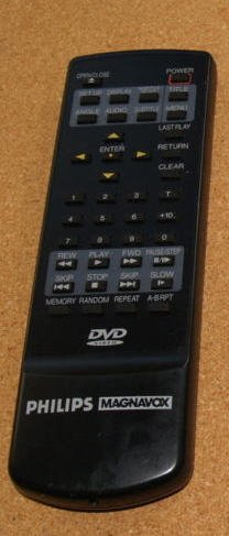 Philips Magnavox Remote Control 70812A For DVD - (Preowned - Very Good)