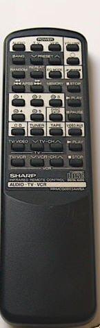 Sharp Remote Control CD / Audio / TV / VCR Model: RRMCG0003AWSA - (Preowned - Very Good)