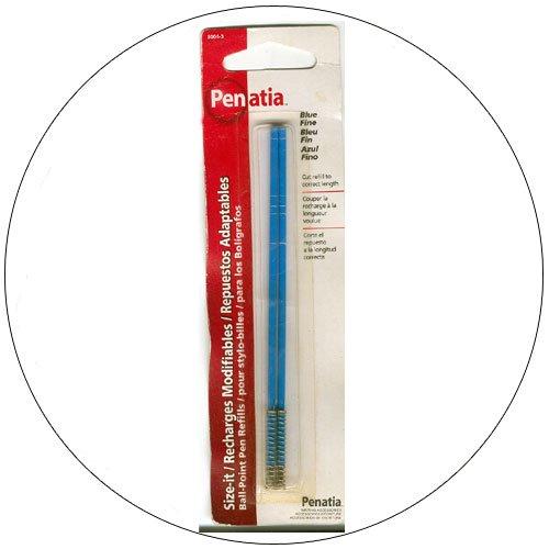 Penatia - Pen Refill for Ball Point Pens - Universal -  Fine - Blue - Model: 8004-3