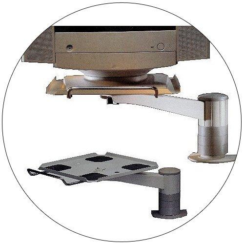 Eldon Heavy Duty Height Selectable Swivel Monitor Arm - No. 62103