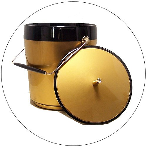 West Bend Thermo-Serv Gold & Black Ice Bucket