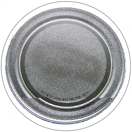 "GE Microwave Glass Cooking Tray - 14 1/8"" Dia. - Part No. WB49X10122 - (Refurbished - Like New)"