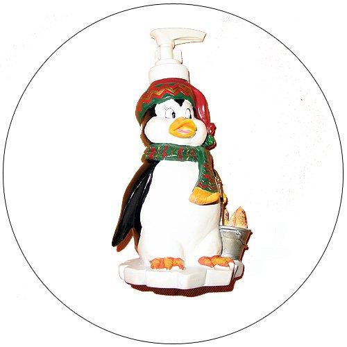 Lotion / Soap Dispenser - Penguin w/ Bucket of Fish Design