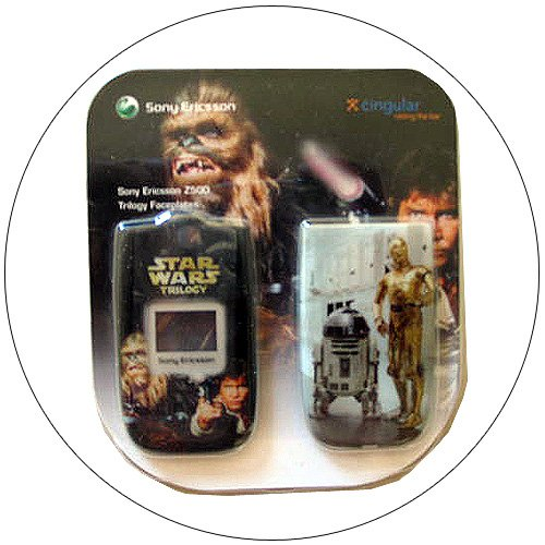 Sony Ericsson Z500 Trilogy Faceplate - Hans Solo, Chewbacca, R2D2, C3PO - No. KRY1011398/51