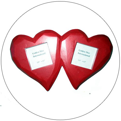 Wooden Heart Shaped Photo Frames - Wall Mount - 2-1/2 Inch Display Area