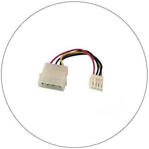 """5.25"""" to 3.5"""" Power Supply Adapter Cable - 3"""" - No. FLT-3600-06"""
