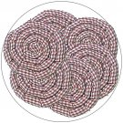 Gingerbread Swirl Hot Pad - Vanilla Scented - Set of 6 Pads