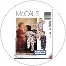 McCall's No. 7975 Sewing Pattern - Toddlers' One or Two-Piece Pajamas - Size 1-2-3