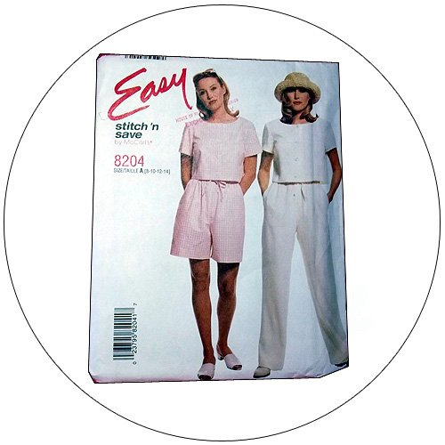 McCall's No. 8204 Sewing Pattern - Misses Pull-On Top, Pants, Shorts  - Size 8-10-12-14