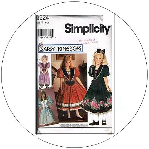 Simplicity No. 9924 Sewing Pattern - Girl's & Child's Ropmer & Dress - Size 3,4,5